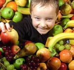 niños comida ecologica