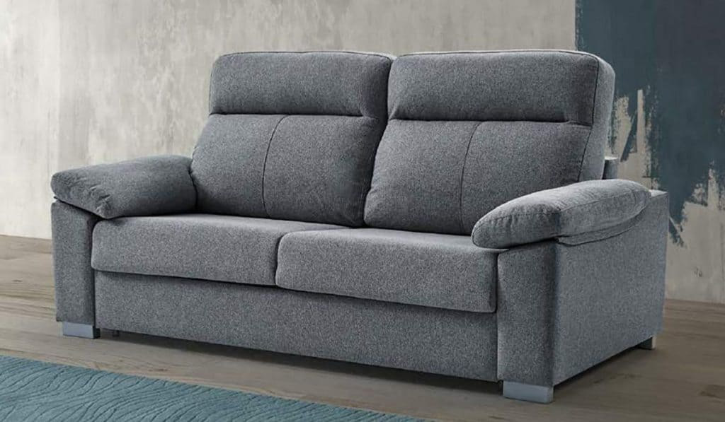 sofa dos plazas de color gris